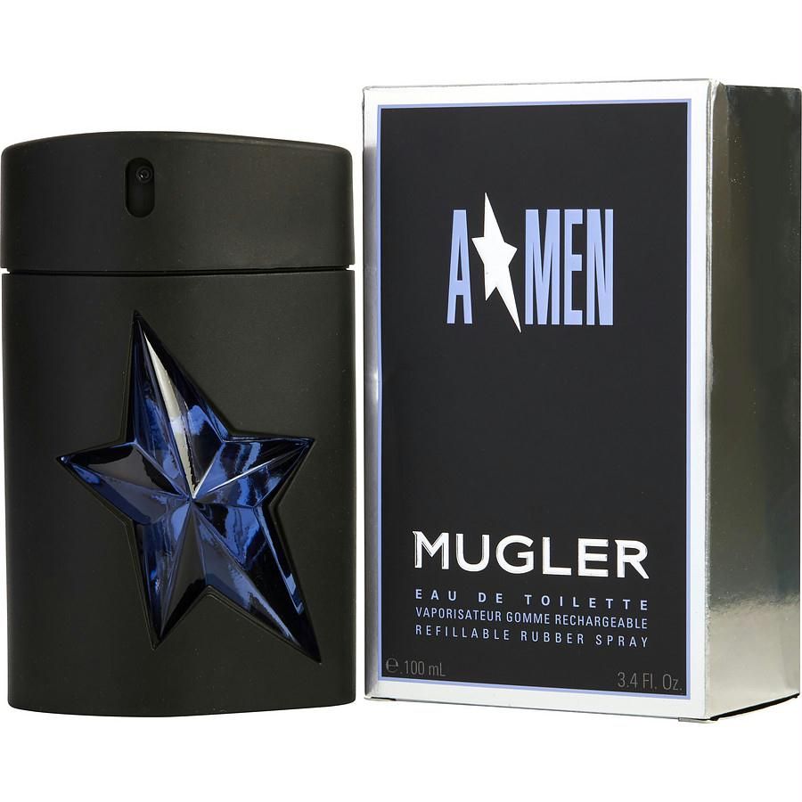 Angel By Thierry Mugler Edt Spray Rubber Bottle Refillable 3.4 Oz