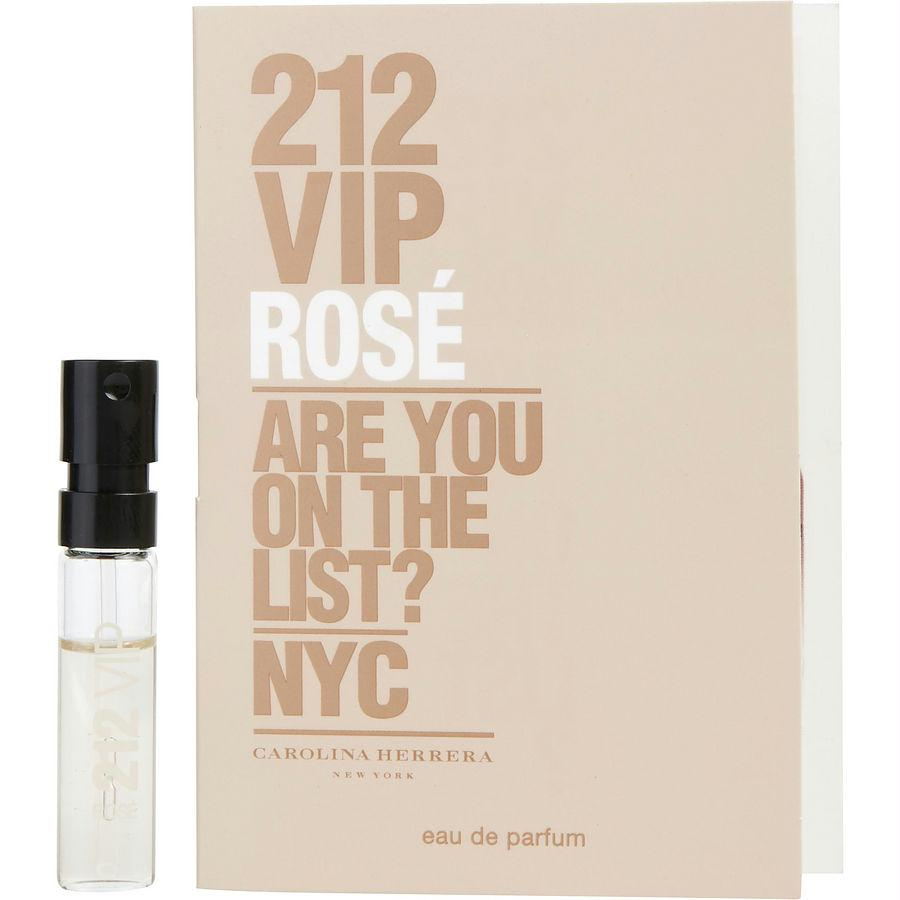 212 Vip Rose By Carolina Herrera Eau De Parfum Spray Vial On Card
