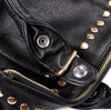 Image of LindsiAlexander.com Black Punk Split Leather Rivet Tote Bag