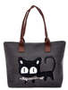 Image of Small Canvas Cat Shoulder Bag (5 colors)