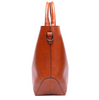 Image of LindsiAlexander.com Classic Split Leather Tote Bag in Brown