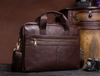 Image of LindsiAlexander.com Men Genuine Cow Leather Laptop Briefcase