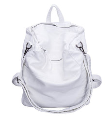 LindsiAlexander.com -  Soft Split Leather Slouch Backpack in White
