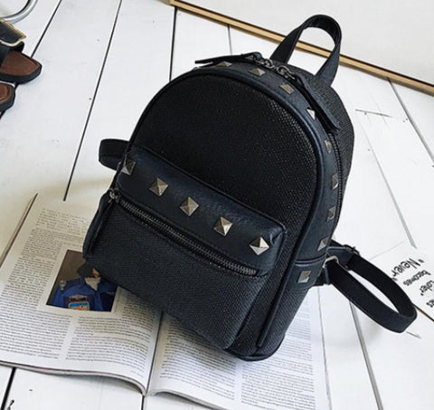 LindsiAlexander.com Straw Mini Backpack in Black
