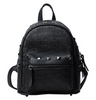 Image of LindsiAlexander.com Straw Mini Backpack in Black