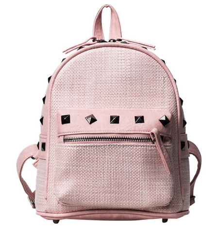 LindsiAlexander.com Straw Mini Backpack in Pink