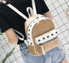 Image of LindsiAlexander.com Straw Mini Backpack in Khaki