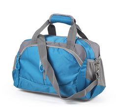LindsiAlexander.com Fitness Gym Nylon Duffel Bag in Blue