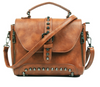 Image of LindsiAlexander.com Vintage Riveted Handbag in Brown