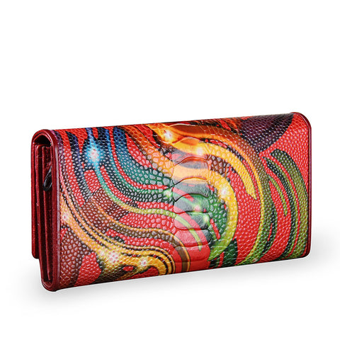 LindsiAlexander.com - Genuine Leather Abstract Art Clutch