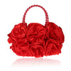 Image of LindsiAlexander.com - Silk Flower Evening Bag in Red
