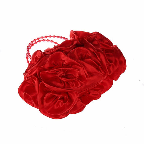 LindsiAlexander.com - Silk Flower Evening Bag in Red