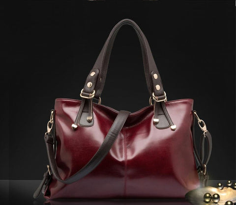 LindsiAlexander.com Genuine Leather Tote Bag in Red