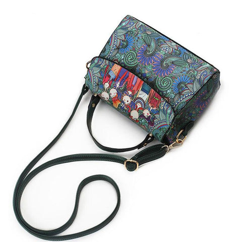 Decorated Leather Handbag