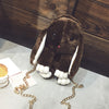 Image of Furry Bunny Rabbit Bag in Brown - Lindsi Alexander Bags