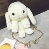 Image of Furry Bunny Rabbit Bag in White - Lindsi Alexander Bags