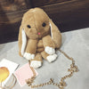 Image of Furry Bunny Rabbit Bag in Light Brown - Lindsi Alexander Bags