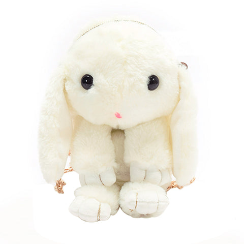 Furry Bunny Rabbit Bag in White - Lindsi Alexander Bags