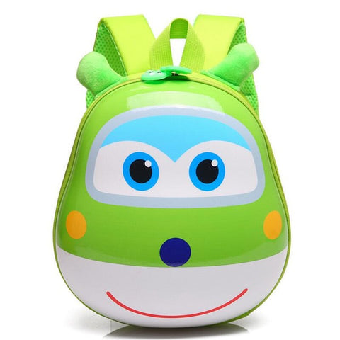 LindsiAlexander.com - 3D Cartoon Childrens Backpack - Green
