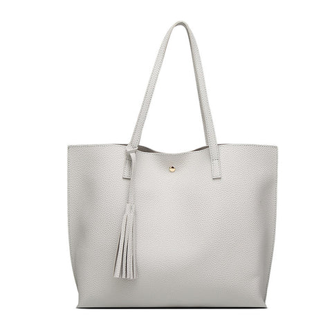 LindsiAlexander.com - Classic Split Leather Tote Bag in Gray