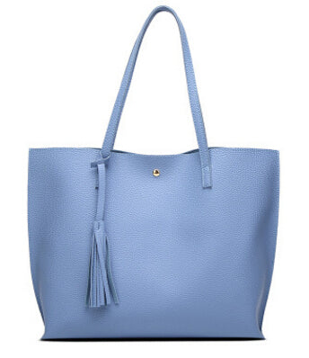 LindsiAlexander.com - Classic Split Leather Tote Bag in Blue