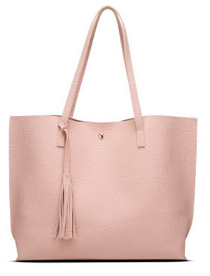 Lindsi Alexander Bags - Classic Split Leather Tote Bag in Pink