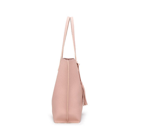 LindsiAlexander.com - Classic Split Leather Tote Bag in Pink