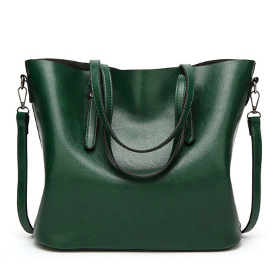 LindsiAlexander.com - Oil Wax Split Leather Tote Bag in Green