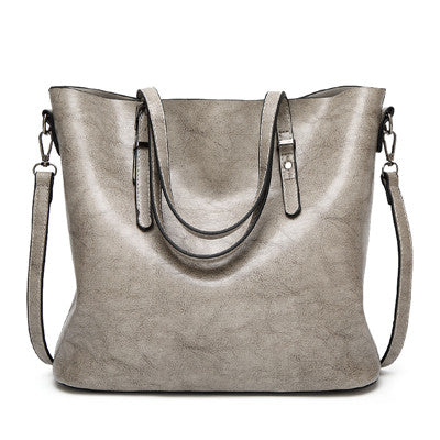 LindsiAlexander.com - Oil Wax Split Leather Tote Bag in Gray
