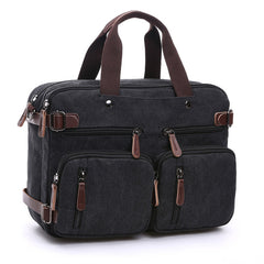 Men's Canvas and Leather Travel Bag (4 colors)