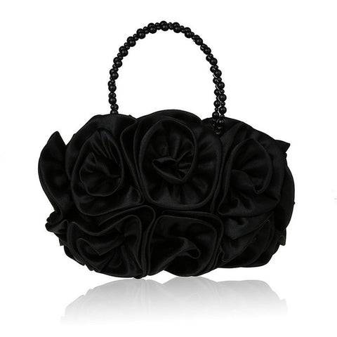 LindsiAlexander.com - Silk Flower Evening Bag in Black
