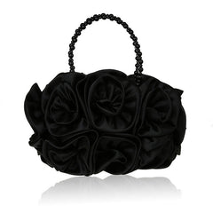 Silk Flower Evening Bag (8 colors)
