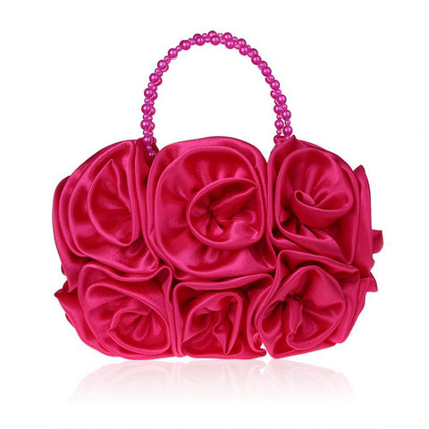 LindsiAlexander.com - Silk Flower Evening Bag in Magenta