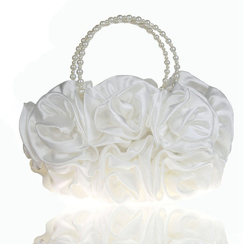 LindsiAlexander.com - Silk Flower Evening Bag in White