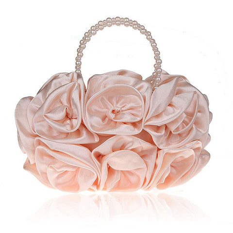 LindsiAlexander.com - Silk Flower Evening Bag in Pink