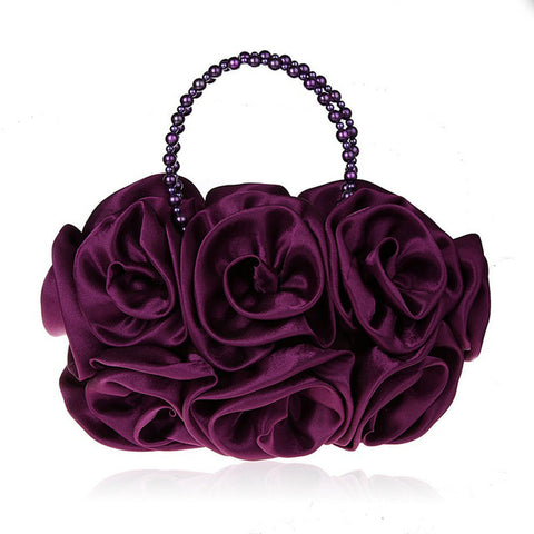 LindsiAlexander.com - Silk Flower Evening Bag in Purple