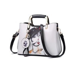 Retro Painted Split Leather Handbag (6 variations)