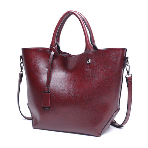LindsiAlexander.com Classic Split Leather Tote Bag in Coffee