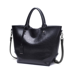 Classic Split Leather Tote Bag (4 colors)