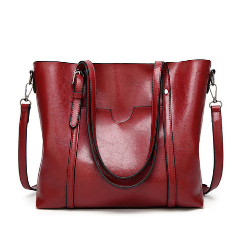 LindsiAlexander.com Large Classy Tote Bag in Red