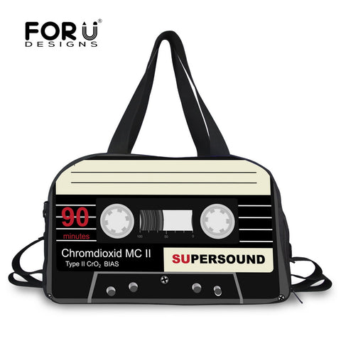 LindsiAlexander.com Canvas Cassette Tape Duffel in Black