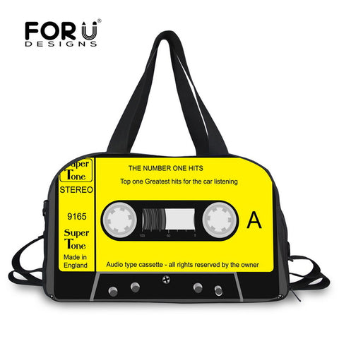 LindsiAlexander.com Canvas Cassette Tape Duffel in Yellow