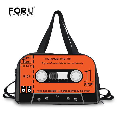 LindsiAlexander.com Canvas Cassette Tape Duffel in Orange