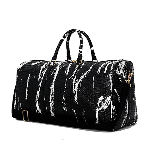 LindsiAlexander.com - Split Leather Snake Pattern Duffel