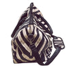 Image of Crossbody Zebra Pattern Leather Duffel Bag (2 sizes)