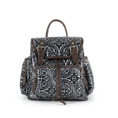 Genuine Leather Vintage Embossed Backpack (2 colors)