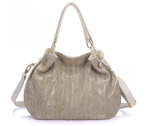LindsiAlexander.com Large Beige Leather Tote Bag