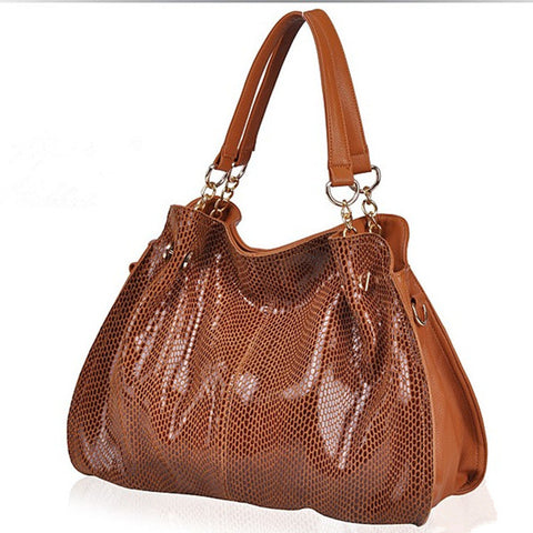 LindsiAlexander.com Large Brown Leather Tote Bag