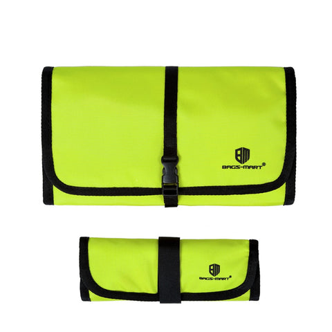 LindsiAlexander.com -  Bagsmart Travel Electronic Accessory Case in Lime Green