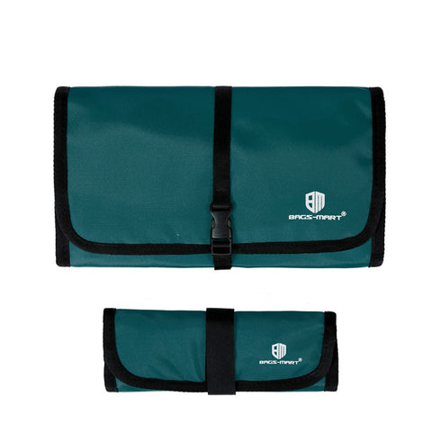LindsiAlexander.com -  Bagsmart Travel Electronic Accessory Case in Green